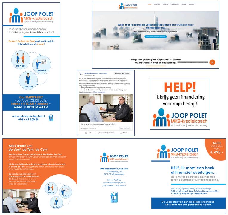 Facebookcampagne, website en actie voor MKB Coach
