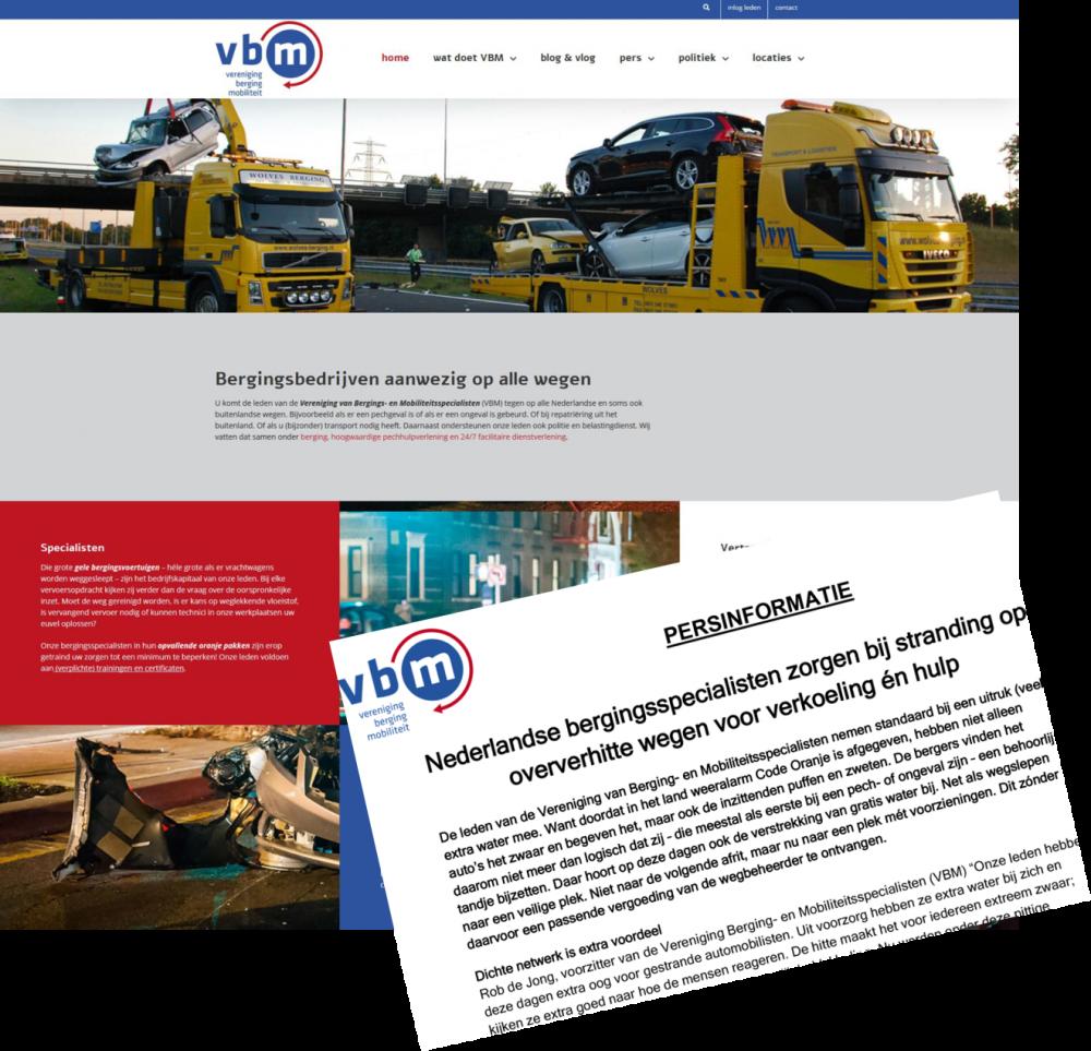 Website, persaanpak, communicatieplan