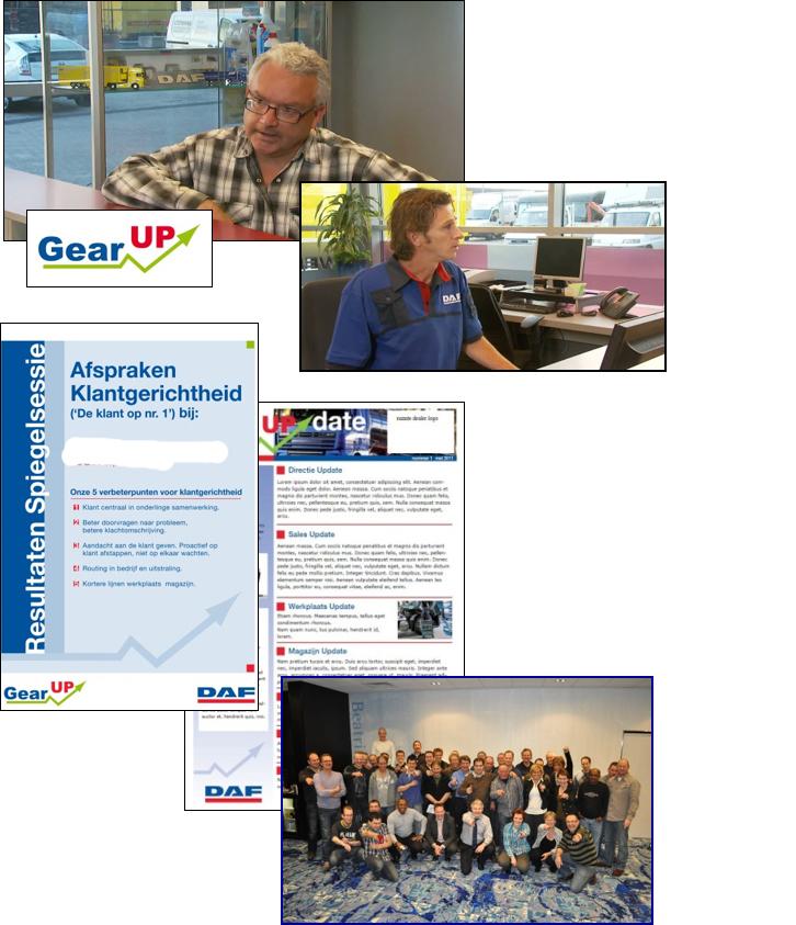Video, instructie, workshop, training bij DAF